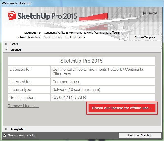 Check out giấy phép bản quyền SketchUp để sử dụng ngoại tuyến