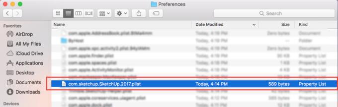 Xoa bo tep plist sau khi go sketchUp tren Mac OS