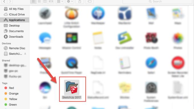 Go cai dat SketchUp ban quyen tren Mac OS