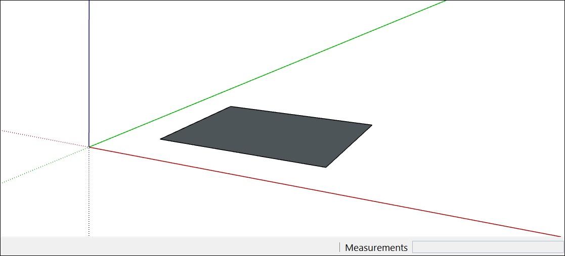 vẽ hình vuông, hình chữ nhật trong SketchUp
