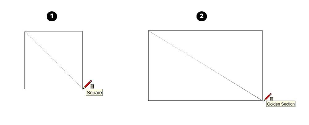 cách vẽ hình vuông sketchup