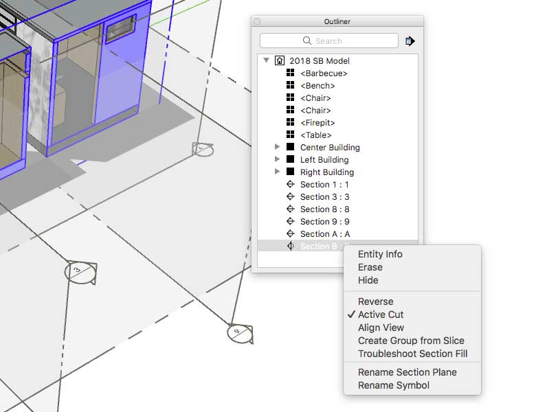 section plane sketchup pro