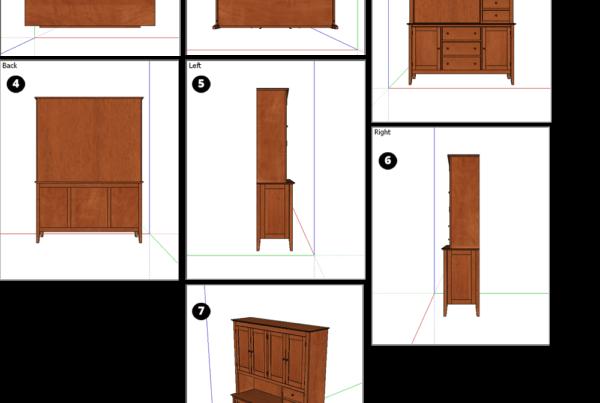 view model trong sketchup