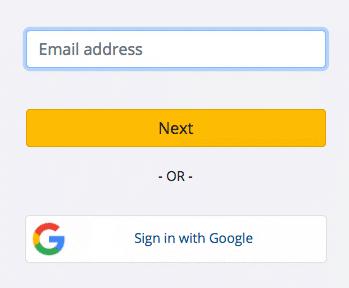 Nhập Email của bạn để tạo Trimble ID