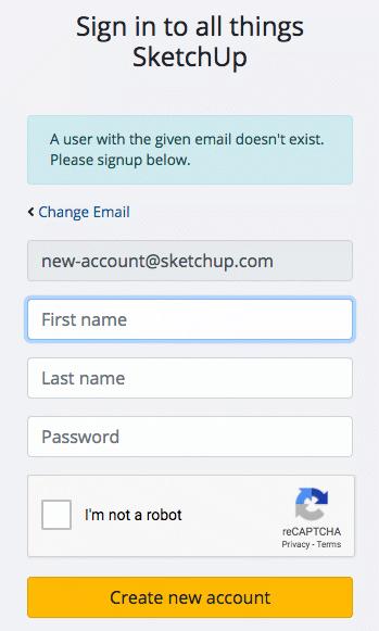 Nhập họ tên, mật khẩu của bạn để tạo Trimble ID
