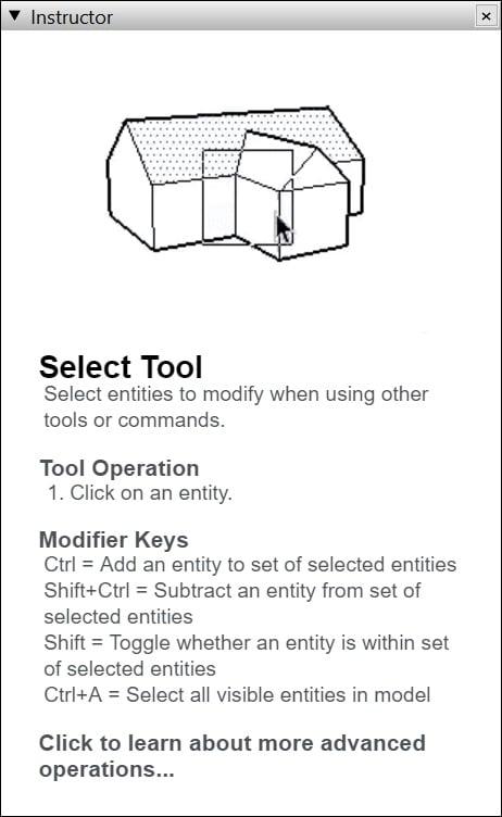 Instructor - Công cụ hướng dẫn bạn sử dụng công cụ SketchUp hiệu quả
